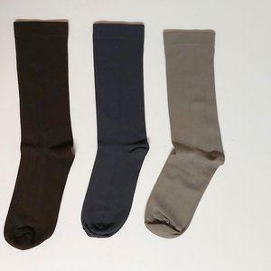 *3/$20* Sleek Socks 3pk NWOT mid-calf crew cut